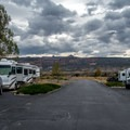 Typical campground loop road.- Fruita Campground