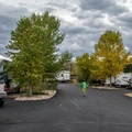 The roads are nicely paved and wide.- Fruita Campground