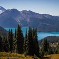 Gaining some elevation above Garibaldi Lake.- Black Tusk Hike