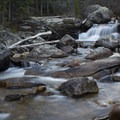 Copeland Falls is about 0.3 miles from the Wild Basin Trailhead.- Lion Lakes Hike