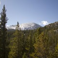 An early viewpoint affords a better view of Copeland Mountain.- Lion Lakes Hike