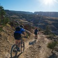 Great views of the Colorado National Monument from up high.- Lunch Loop Mountain Bike Trails: Curt's Lane + Miramonte Rim Loop