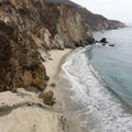 The beach below Bixby at low tide.- Bixby Bridge