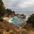 McWay Falls during mid-day in autumn.- McWay Falls