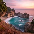 Long exposure during sunset.- McWay Falls