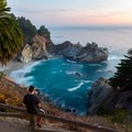 Another great sunset viewing spot.- McWay Falls
