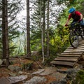 Another wooden bridge near the end of the trail.- North Whistler Mountain Bike Trails: Kill Me Thrill Me + North of Town