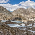 A frozen Helen Lake seen from Muir Pass.- John Muir Trail Section 3