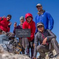 Enjoying the summit of Forester Pass.- John Muir Trail Section 4