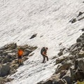 Hikers climbing toward Glen Pass.- John Muir Trail Section 4