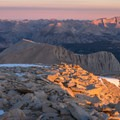 Views from the summit of Mount Whitney.- John Muir Trail Section 4
