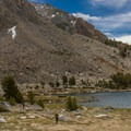 JMT hikers at Virginia Lake.- John Muir Trail Section 2