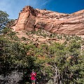 Once at the bottom of the canyon, the hike is fairly flat.- Monument Canyon Trail Hike