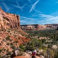 The hike finishes by reversing that steep climb down.- Monument Canyon Trail Hike