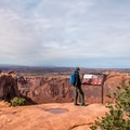 Wonderful view from the first overlook.- Upheaval Dome Hike