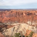 Upheaval Dome in Canyonlands National Park. The formation is more of a crater.- Upheaval Dome Hike