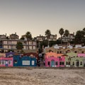 The colorful edifaces of Capitola.- Capitola Beach