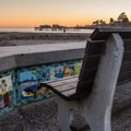 Capitola is an ideal spot to catch a sunset.- Capitola Beach