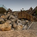 Stairs leading down to the 26th Avenue Beach.- 26th Avenue Beach