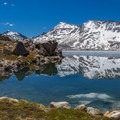 A partially frozen Wanda Lake en route to Muir Pass.- John Muir Trail Section 3