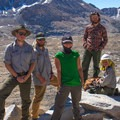 A National Park Service trail crew on top of Mather Pass (12,080 feet).- John Muir Trail Section 3