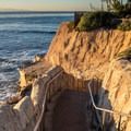 Stairs leading down to the water at Pleasure Point.- Pleasure Point