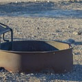 Fire pits at Stovepipe Wells Campground.- Stovepipe Wells Campground