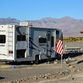 RV camping at Stovepipe Wells Campground.- Stovepipe Wells Campground