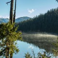 Edwards Lake and Panther Peak.- Mount Steele Hike