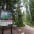 The trail split for Twin Lake and Solitude Lake.- Silver Lake Loop Trail Hike