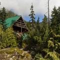 Edwards Cabin near Edwards Lake.- Mount Steele Hike