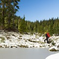 The park is speckled with a bunch of small lakes. - Mount Steele Hike