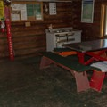 Lots of room and ammenities in the Mount Steele cabin.- Mount Steele Hike