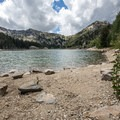 The rewarding view of Twin Lakes.- Twin Lakes Hike