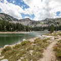 In the summer months, there is a trail from the end of Twin Lakes that leads up to Lake Solitude.- Twin Lakes Hike