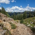 The view of Big Cottonwood Canyon.- Twin Lakes Hike