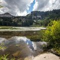 View from Silver Lake.- Twin Lakes Hike