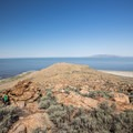 View of the Great Salt Lake from the Buffalo Point Trail.- Buffalo Point