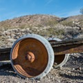 An old trailer on the Tie Canyon Trail.- Scotty's Grave + Tie Canyon Trail Hike