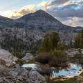 Camp view from Marie Lake.- John Muir Trail Section 2