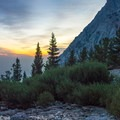 Sunrise in the valley.- Lone Pine Peak Climb