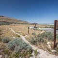 Trailhead for the Lakeside Trail.- Bridger Bay Campground