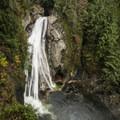 135-foot lower Twin Falls.- Twin Falls Hike via West Trailhead