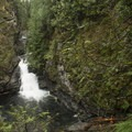Upper portion of Twin Falls.- Twin Falls Hike via Homestead Valley Trailhead