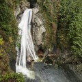 135-foot lower Twin Falls.- Twin Falls Hike via Homestead Valley Trailhead