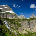 Waterfalls are plentiful along the trail in Glacier National Park.- Pacific Northwest National Scenic Trail Section 1