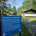 US Border and Customs at Goat Haunt.- Pacific Northwest National Scenic Trail Section 1