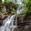 The trail criss-crosses many streams with waterfalls right along the trail.- Pacific Northwest National Scenic Trail Section 1