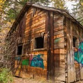 An old cabin at Parkhurst.- Parkhurst Ghost Town