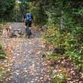 Climbing on the Flank Trail.- Westside Mountain Bike Trails: Pura Vida + Danimal